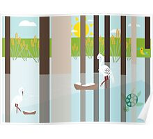 nesting In the swamp  Poster