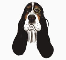 Basset Hound With Monocle by Lotacats