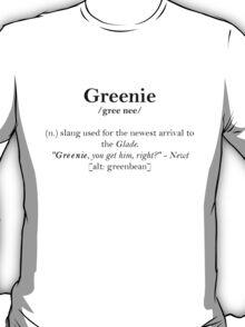 Glader slang dictionary: Greenie T-Shirt