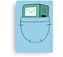 BMO Pocket - Adventure Time Canvas Print