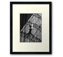 Wall Dive Framed Print