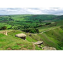 South from the Summit of Back Tor Photographic Print