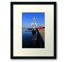 Tall Ship Alongside Framed Print