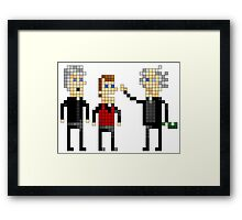 Father Ted - Pixel Art Framed Print