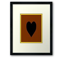 Yu-Gi-Oh Card Back (Heart of the Cards) Framed Print