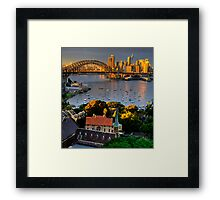 St Francis Pray For Us  - Moods of A City #14 -  The HDR Series, Sydney Australia Framed Print