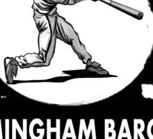 RAISED BY BIRMINGHAM BARONS FAN Sticker