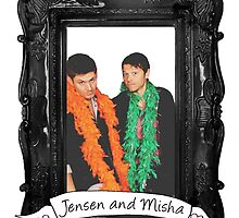 Jensen and Misha by castielbitches