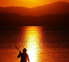 Sunset paddle by Wanagi Zable-Andrews