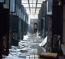 papered corridor by rob dobi