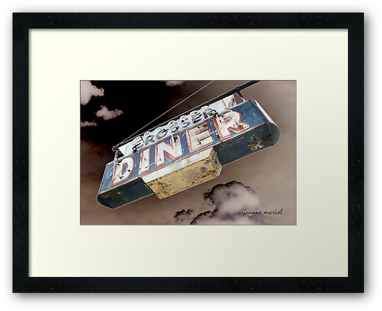 Vintage Diner Sign 1 by Joanne Mariol