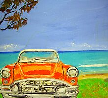 Retro Pontiac at Byron Bay  by gillsart