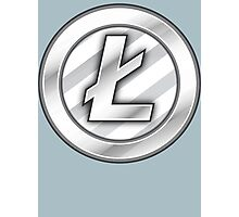 Litecoin Sticker - Bitcoin Crypto Currency Photographic Print
