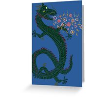 Flower-breathing Dragon Greeting Card