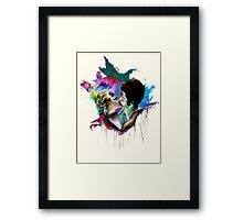 Across the Universe - Strawberry Kiss Framed Print
