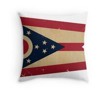 Ohio State Flag VINTAGE Throw Pillow