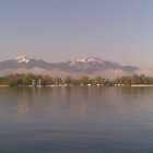 Lake, Jetty, morning, Germany, Ubersee, Water by Katter Pult