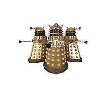 Golden Dalek Trio Photographic Print