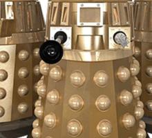 Golden Dalek Trio Sticker