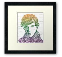 Sherlock Quote Rainbow Framed Print