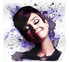 Audrey Hepburn watercolor digital Poster