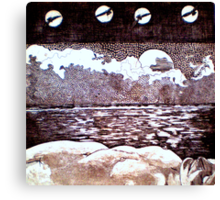 Ruban Jane - Copper Plate Etching Canvas Print