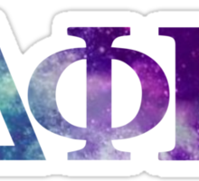 DPhiE Galaxy Letters Sticker