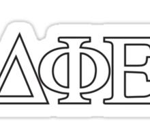 DPhiE Plain Letters (B/W) Sticker