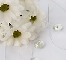 white flowers  by VioDeSign