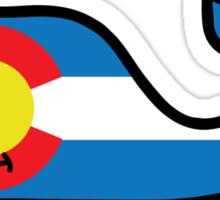Colorado Themed Vineyard Vines Whale Sticker