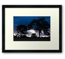 Sunset on the Border Road Framed Print