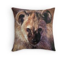 Spotted Hyena Cub Throw Pillow