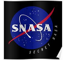 SNASA (Secret NASA - Logo) Poster