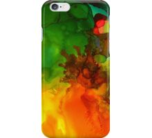 Colorful abstract, liquid dripping colors iPhone Case/Skin