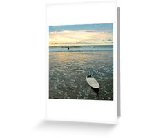 Playa Tamarindo Surf and Sunset Greeting Card