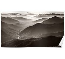 Sequoia National Park Mountains Poster
