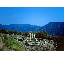 Remains of the Shrine of Athena and the Tholos, Delphi, Greece Photographic Print