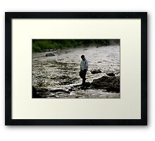 Everything's Right in the World at this Place and Time Framed Print