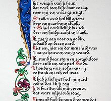 Dutch poem by Antoine de Paauw