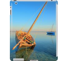 Dhow in the shallow turquoise water iPad Case/Skin