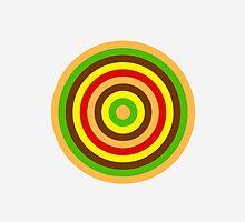 Burger dartboard by emilegraphics