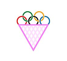 Olympic Gay Ice cream Photographic Print