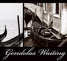 Gondolas Waiting by DavidROMAN