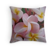 Pink Fragapani Bunch Throw Pillow