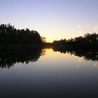 Murray Mirrors - Murray River, Tocumwal, Victoria by Deanna Roberts Think in Pictures