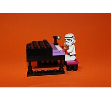 Stormtrooper plays piano Photographic Print