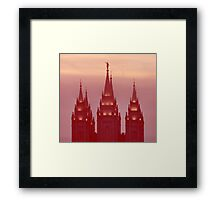 Salt Lake Temple Spires Framed Print