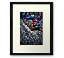 Takin out the trash... Framed Print