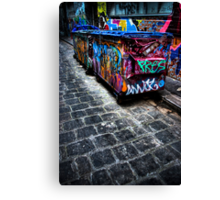 Takin out the trash... Canvas Print