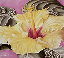 Yellow Hibiscus by Kim Bender